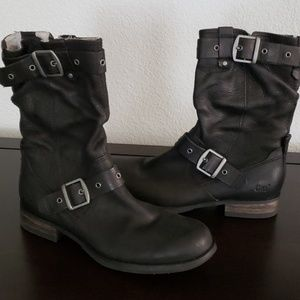 NWOT CAT Leather Boots, size 8